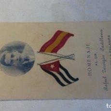 Postales: HOMENAJE AL DR.RAFAEL ZERVIGON CASTELLANOS. Lote 128503643