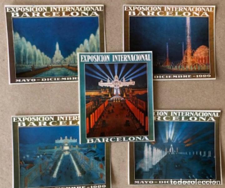 FUENTES LUMINOSAS, BARCELONA (1929). LOTE DE 5 POSTALES - PRODUCCIONES DOS I UNA. TARZAN . SIN CIRC (Postales - Postales Temáticas - Conmemorativas)