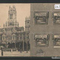 Postales: EDIFICIO CORREOS DE MADRID - BUZONES CON PEQUEÑAS VISTAS DE MADRID - P26599. Lote 133246466