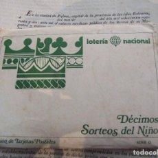 Postales: COLECCION DE 12 TARJETAS POSTALES - SERIE 0 DECIMOS SORTEOS DEL NIÑO - LOTERIA NACIONAL 1981. Lote 135295538