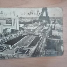 Postales: ANTIGUA POSTAL BLANCO Y NEGRO DE LA EXPOSICION INTERNACIONAL DE PARÍS 1937. Lote 135602891