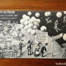 Postales: POSTAL COMICA SOBRE LA LLEGADA DEL COMETA HALLEY - FIN DEL MUNDO 19 MAYO 1910 - SIN CIRCULAR GLOBOS. Lote 137319666