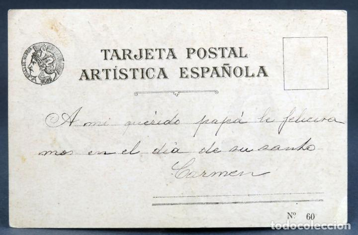 Postales: Postal Bermudo I El diácono Tarjeta Artística Española Saturnino Calleja nº 60 PP S XX sin dividir - Foto 2 - 137518626