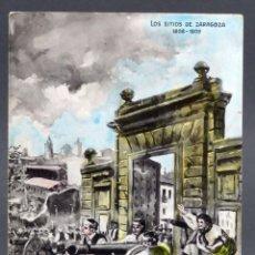 Postales: POSTAL SITIOS ZARAGOZA GUERRA INDEPENDENCIA 1808 - 09 MONTES DEFENSA PUERTA CARMEN MP SIN CIRCULAR. Lote 137531350