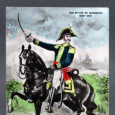 Postales: POSTAL SITIOS ZARAGOZA GUERRA INDEPENDENCIA 1808 - 09 MONTES GENERAL PALAFOX MP SIN CIRCULAR. Lote 137531454