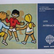 Postales: POSTAL. SERIE L Nº 3 DE E. LARA. AÑO INTERNACIONAL DEL NIÑO. ED. SERVICIO NACIONAL DE LOTERIAS.. Lote 139316086