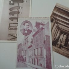 Postales: LOUIS PASTEUR. DOLE, FRANCIA. MAISON NATALE, 2 POSTALES Y UN TICKET SOUVENIR. ANTIGUAS. VER IMÁGENES. Lote 141861726