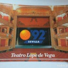 Postales: TARJETA POSTAL EXPO' 92 EXPOICION TEATRO LOPE DE VEGA. Lote 142684266