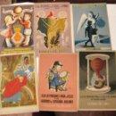 Postales: CONJUNTO DE 6 POSTAL EDICION BODAS DE ORO CAJA DE PENSIONES VEJEZ Y AHORRO CATALUNYA 1954. Lote 142918270