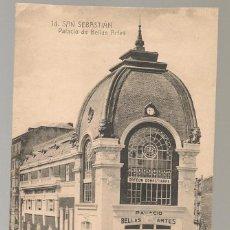 Postales: POSTAL ANTIGUA SAN SEBASTIAN PALACIO DE BELLAS ARTES , MAYOR HERMANOS ...N.... Lote 145690134