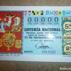 Postales: POSTAL LOTERIA NACIONAL 22 DICIEMBRE 1970 NUEVA. Lote 146667830