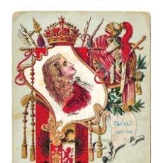 Postales: TARJETA POSTAL ARTÍSTICA ESPAÑOLA. Nº 12 CARLOS II. REYES DE ESPAÑA. CALLEJA MADRID. Lote 150543466
