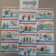 Postales: LOTE DE 12 ANTIGUAS POSTALES DE LA LOTERIA Y EL FUTBOL. Lote 157211141