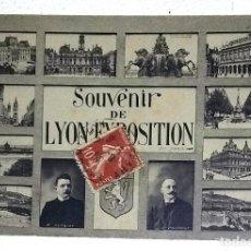 Postales: SOUVENIR DE LYON EXPOSITION. CIRCULADA EL 26-X-1914.. Lote 159423882