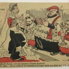 Postales: FESTA SOLIDARITAT CATALANA 1906. ILUSTRACION PICAROL.. Lote 160345346