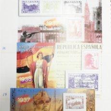 Postales: GUERRA CIVIL ESPAÑOLA EN SELLOS DE CORREOS. COMPLETO. Lote 161442953