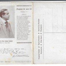 Postais: JOSEP CARNER - JACINT VERDAGUER . JAUME PAHISSA - P28993. Lote 161811202