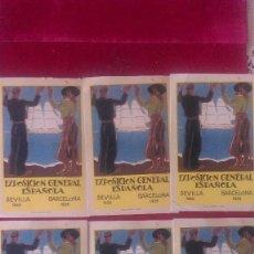 Postales: AB.- 302.- LOTE DE- 6 - POSTALES --EXPOSICION GENERAL ESPAÑOLA, SEVILLA 1928.- BARCELONA 1929, SIN C. Lote 162481874