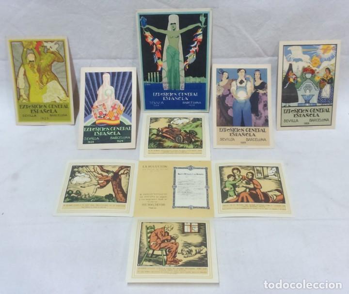 4 TARJETA POSTAL + PROGRAMA ACTOS + RECUERDO. EXPOSICIÓN GENERAL ESPAÑOLA SEVILLA 1928. VER (Postales - Postales Temáticas - Conmemorativas)