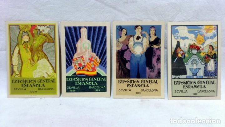 Postales: 4 TARJETA POSTAL + PROGRAMA ACTOS + RECUERDO. EXPOSICIÓN GENERAL ESPAÑOLA SEVILLA 1928. VER - Foto 2 - 162688122
