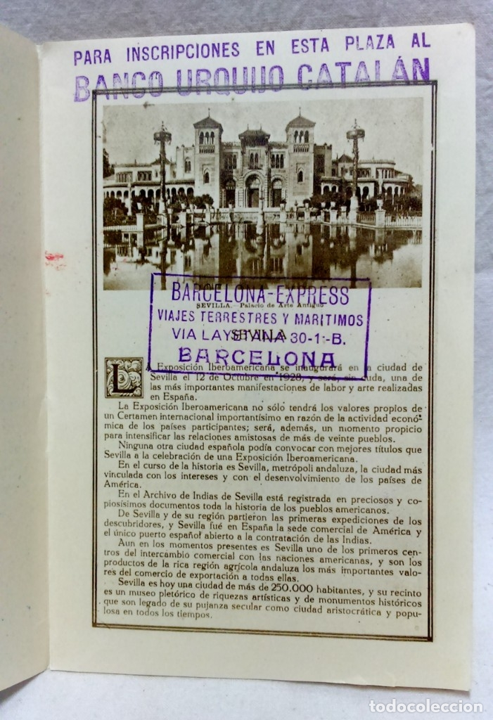 Postales: 4 TARJETA POSTAL + PROGRAMA ACTOS + RECUERDO. EXPOSICIÓN GENERAL ESPAÑOLA SEVILLA 1928. VER - Foto 5 - 162688122