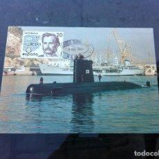 Postales: POSTAL. 50 ANIVERSARIO DEL CORREO SUBMARINO BARCELONA - MAHÓN. SUBMARINO TRAMONTANA. Lote 163619586