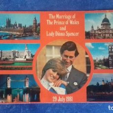 Postales: THE MARRIAGE OF THE PRINCE OF WALES AND LADY DIANA SPENCER, 29 JULY 1981. SIN CIRCULAR. . Lote 164716626