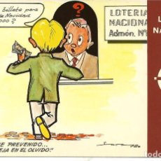 Postales: POSTAL LOTERIA NACIONAL, REFRANES - SERIE K Nº 2 - E. DE LARA. Lote 164840926