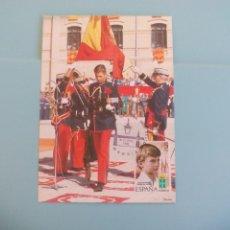 Postales: TARJETA POSTAL CONMEMORATIVA 10 AÑOS REINADO JUAN CARLOS I - 1985 - PRINCIPE - REY FELIPE VI SELLO. Lote 166730318