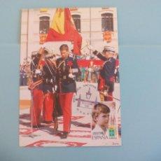 Postales: TARJETA POSTAL CONMEMORATIVA 10 AÑOS REINADO JUAN CARLOS I - 1985 - PRINCIPE - REY FELIPE VI SELLO. Lote 166730402