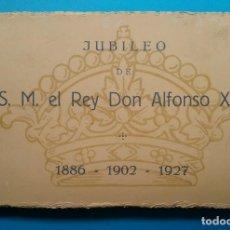 Postales: S. M. DON ALFONSO XIII REY DE ESPAÑA BLOC POSTAL 25 AÑO 1928. Lote 170456740