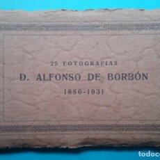 Postales: S. M. DON ALFONSO XIII REY DE ESPAÑA BLOC POSTAL FOTOGRAFÍCA 25 AÑO 1931. Lote 170456964