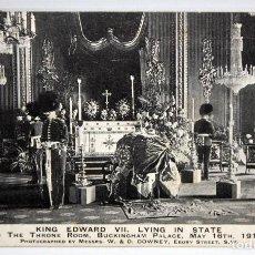 Postales: POSTAL - FUNERAL DEL REY EDWARD VII. BUCKINGHAM PALACE. 16 DE MAYO 1910. CIRCULADA.. Lote 171100034
