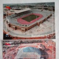 Postales: DOS POSTALES COLECCION OFICIAL BARCELONA 92 TAMAÑO GRANDE. Lote 171653528