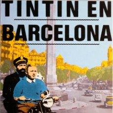 Postales: POSTAL DE TINTÍN EN BARCELONA. RUBIALES. 1984. NUEVA. Lote 172063403