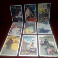 Postales: LOTE DE 9 TARJETAS POSTALES DE LIBROS - VICENTE BLASCO IBAÑEZ . 1998 1º ANIVERASIO - AYUNT. VALENCIA. Lote 172759027