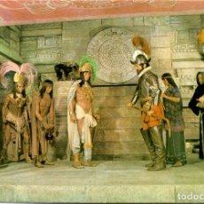 Postales: POSTAL MUSEO DE CERA COLÓN. MADRID. HERNÁN CORTÉS Y MOCTEZUMA. Lote 175852602