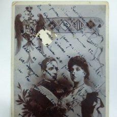 Postales: POSTAL. PRINCESA VICTORIA DE BATTENBERG Y EL REY ALFONSO XIII DE ESPAÑA. ESCRITA. . Lote 176157685