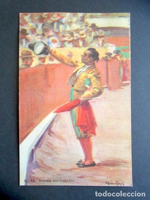 POSTAL TOROS. BRINDIS DEL MATADOR. B. SIRVEN S.A.E. BARCELONA. POSTAL TAURINA. (Postales - Postales Temáticas - Conmemorativas)