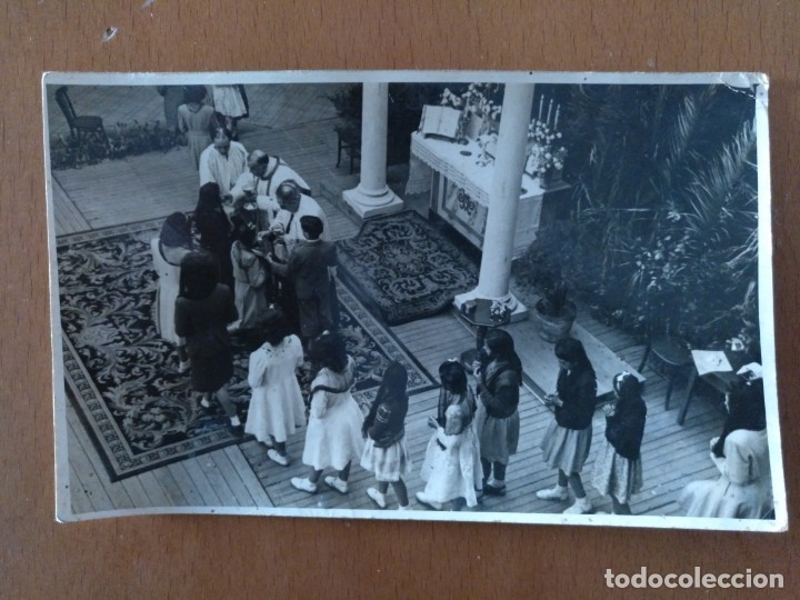 POSTAL FOTOGRAFICA ALUMNAS SEGUNDO CURSO BACHILLERATO VERDAGUER BARCELONA AÑOS 40 (Postales - Postales Temáticas - Conmemorativas)