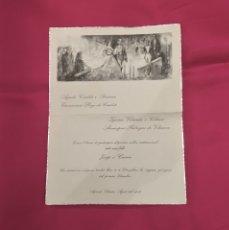 Postales: TARJETA INVITACIÓN BODA EN CATALÁN ILUSTRADA POR FLORIT DE 1957. Lote 177622135
