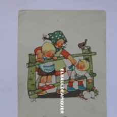 Postales: POSTAL DIBUJO DE NIÑOS. FELICITACION DE PASCUA. 3125. VEB VOLKSKUNSTVERLAG. Lote 177979267