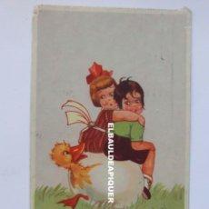 Postales: POSTAL CHECA. FELICITACION DE PASCUA. NIÑOS Y PATO. 1935. CIRCULADA. Lote 177980445