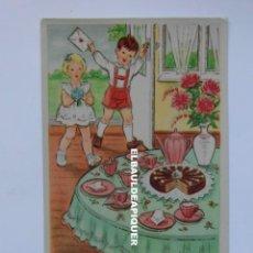 Postales: NIÑOS EN CELEBRACION. ROBERT KATHMANN. ESCRITA AL REVERSO. Lote 177981163