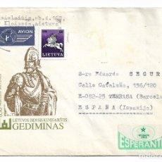 Postales: LIETUVA / LITUANIA - ESPERANTO. Lote 178794745