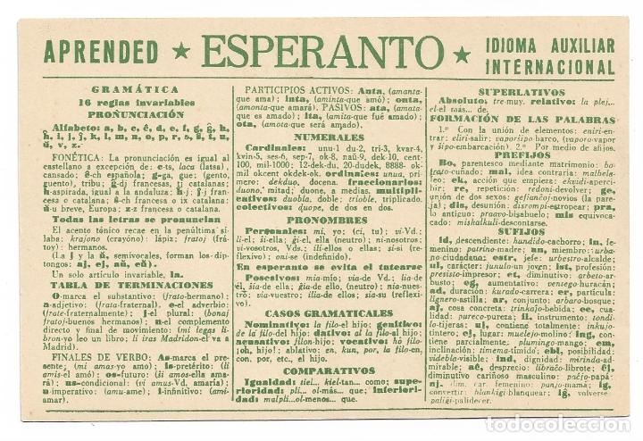 ESPERANTO - BARCELONA (Postales - Postales Temáticas - Conmemorativas)