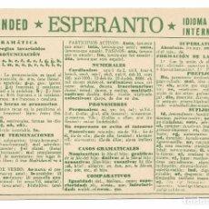 Postales: ESPERANTO - BARCELONA. Lote 178798763