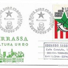 Postales: ESPERANTO - TERRASSA - VIÑETA CORNELLÀ. Lote 178799450