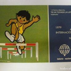Postales: POSTAL. SERIE L Nº 11 DE E. LARA. AÑO INTERNACIONAL DEL NIÑO 1979. LOTERÍA NACIONAL. NO ESCRITA. . Lote 179137876