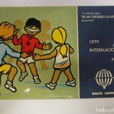 Postales: POSTAL. SERIE L Nº 3 DE E. LARA. AÑO INTERNACIONAL DEL NIÑO. ED. SERVICIO NACIONAL DE LOTERIAS.. Lote 179138095
